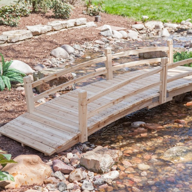 Coral Coast Harrison 10 Ft Wood Garden Bridge Multicolor Cwr299