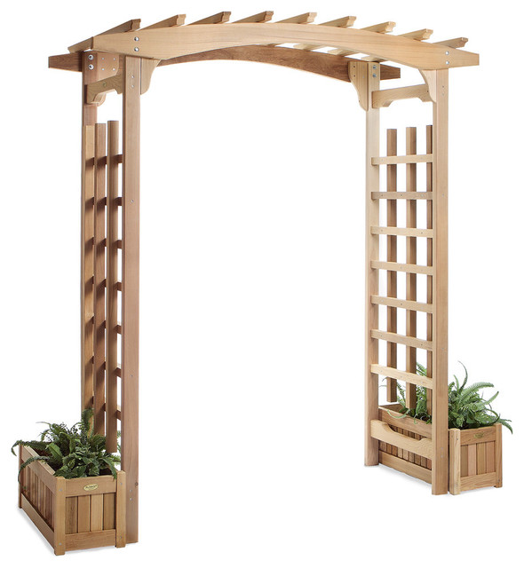 All Things Cedar Pa96u-S Pagoda Arbor W/ Planter Boxes.