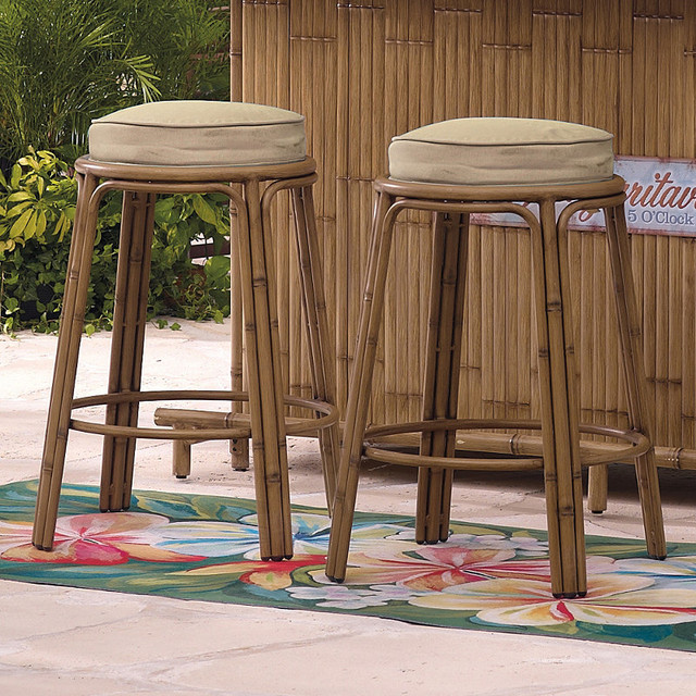 Set of Two Margaritaville Tiki Bar Stools - Frontgate, Patio Furniture - Set Of Two Margaritaville Tiki Bar Stools - Frontgate, Patio