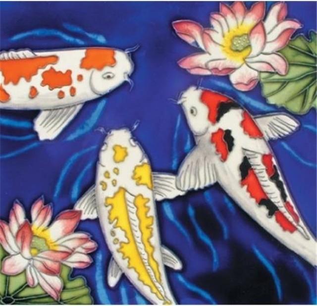 En vogue b 222 koi fish decorative ceramic art tile 8 for Koi fish for sale nj