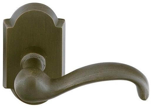 Emtek sandcast bronze teton lever handle mediterranean for Table 99 bethpage