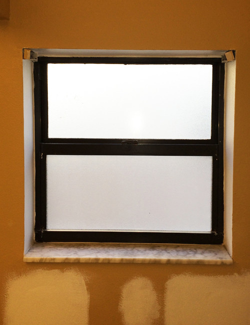 Help with ugly, small bathroom window!
