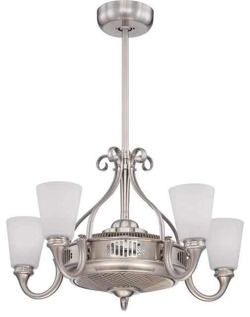 Savoy House Borea Air-Ionizing Fan D&x27;lier, Satin Nickel.