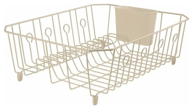 Rubbermaid 6032-Ar-Bisqu Large Dish Drainer With Rubber Feet, Bisque.