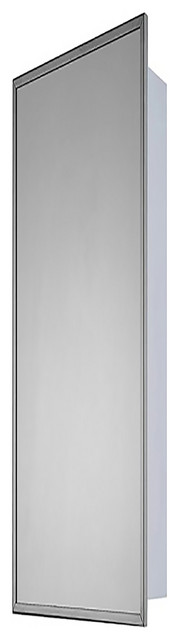 "Deluxe Series Medicine Cabinet, 18""x60"", Bright Annealed Stainless Steel Frame"