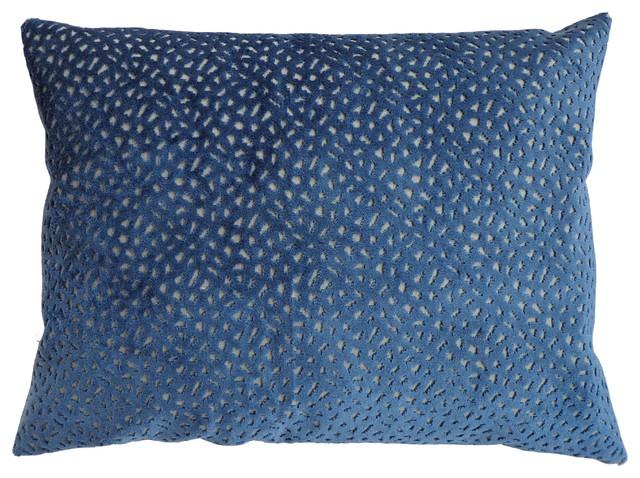 Plush Lumbar Pillow, Navy.