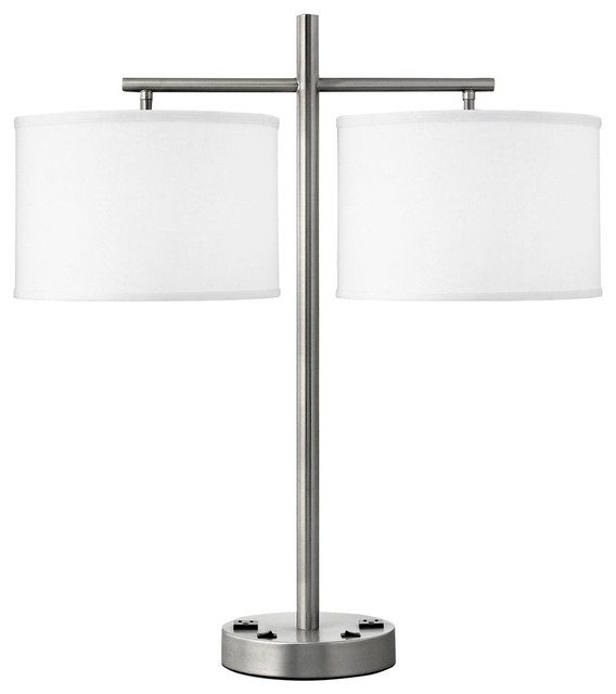 Twin Light Double Nightstand Lamp Single Transitional Lamp Sets By Medallion Lighting
