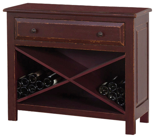 Accent Chest With Wine Storage - Traditional - Accent Chests And Cabinets - by Sunny Designs, Inc.