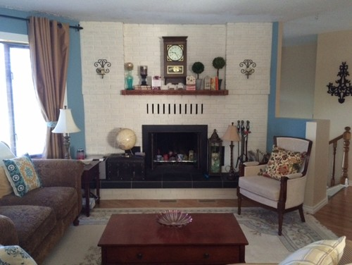 Crown Molding Or Trim At The Top Of Fireplace