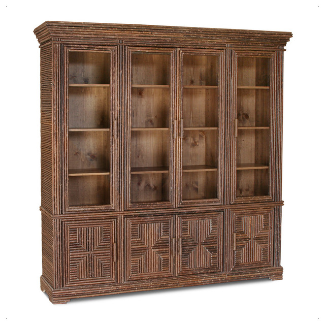 Rustic Cabinet with Glass Doors #2030 - Rustic - China ...