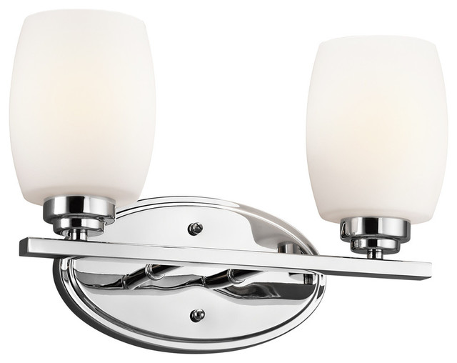Eileen 2 Light Bath Fixture Transitional Bathroom Vanity Lighting By Lamps Expo