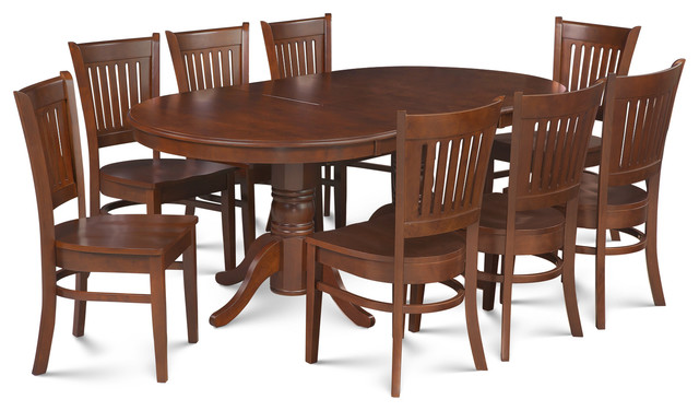 9 Piece Dining Room Set Table With A Butterfly Leaf And 8 Dining