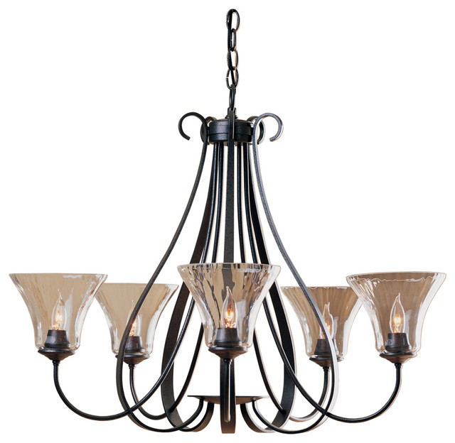 Hubbardton Forge Sweeping Taper: Hubbardton Forge Sweeping Taper 5 Arm Chandelier