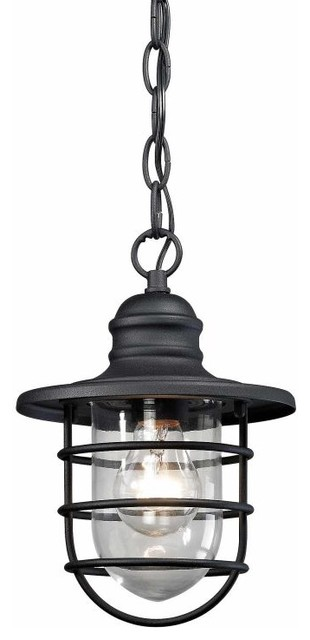 Vandon 1 Light Outdoor Wall Sconce, Charcoal