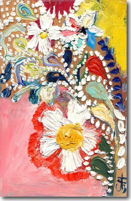 """sweet Abstract Ii"" Artwork By Starla Michelle Halfmann, 18""x27""."