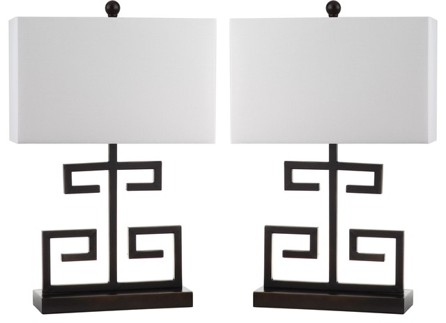 Safavieh Greek Key Table Lamp Set Of 2 Asian Lamp Sets By