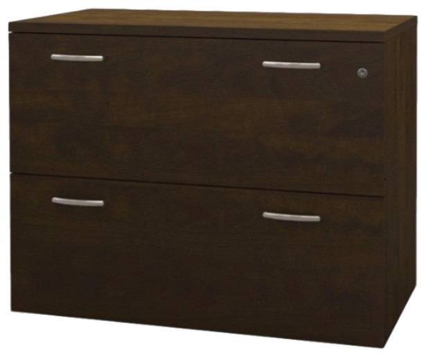 Bestar Pro-Biz Lateral File, Chocolate, Fully Assembled - Contemporary - Filing Cabinets - by ...
