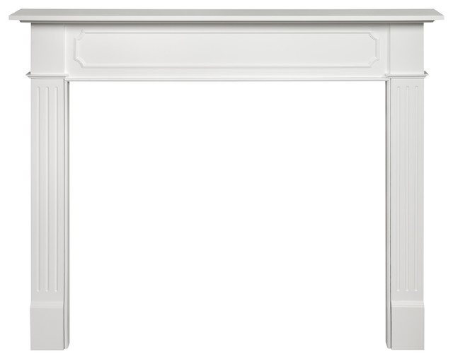 "Norfolk Fireplace Mantel, White, 48""."