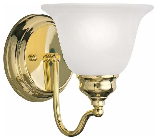1 Light Bath Light Traditional Bathroom Vanity Lighting By