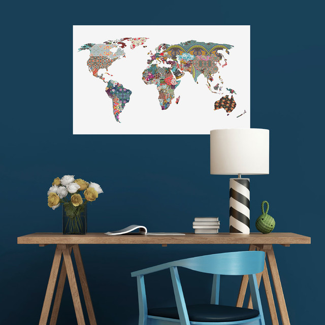 Patchwork world map wall sticker louis armstrong told us so by patchwork world map wall sticker louis armstrong told us so by bianca green s gumiabroncs Choice Image