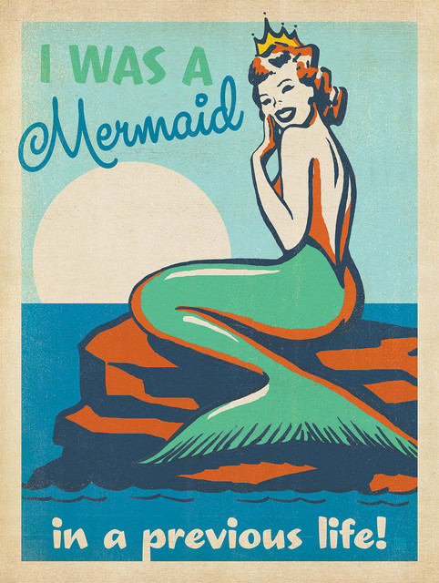 Coastal Collection: Mermaid In A Previous Life Gallery Print.