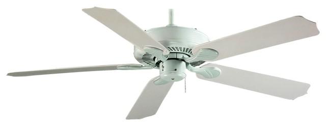 """Outdoor Ceiling Fan, White, 52""""."""