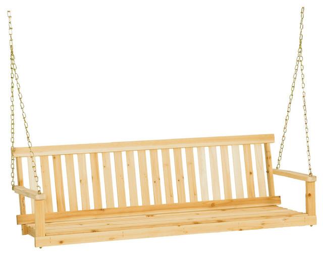 "Jack Post Classic Natural Finish Porch Swing, 60""x22""x17.5"""