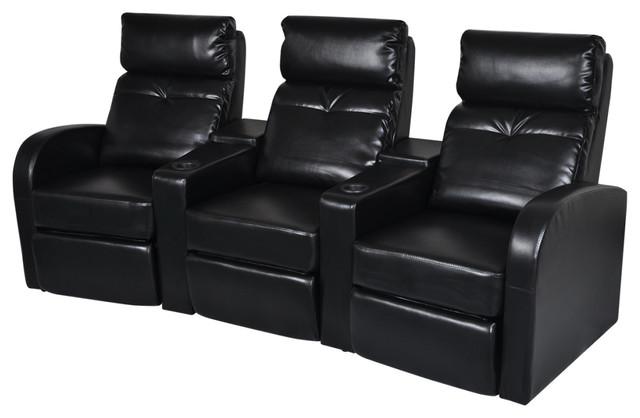 Vidaxl Artificial Leather Home Cinema Recliner Reclining Sofa 3 Seat