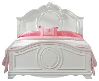 Standard Furniture Jessica 2 Piece Kidsu0027 Panel Bedroom Set In White