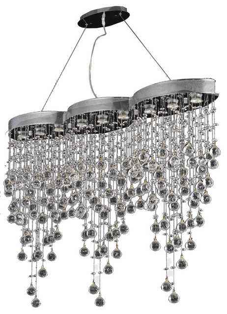 Elegant Lighting Galaxy 9 Light Dining Room