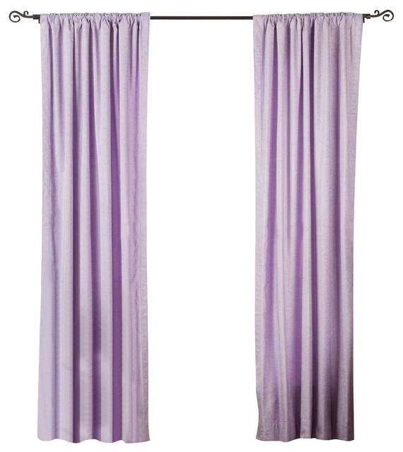 Lavender Rod Pocket Velvet Curtain, Drape And Panel, 43x120, Piece.