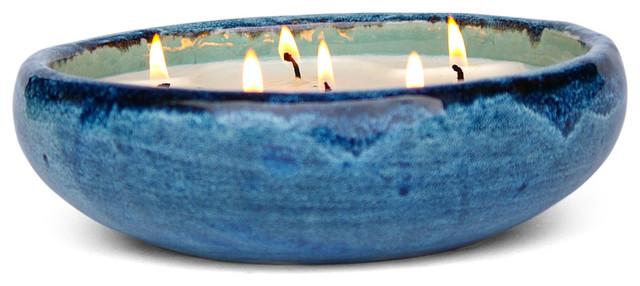 Saxon Mission Blue Candle, Mission Blue, English Pear