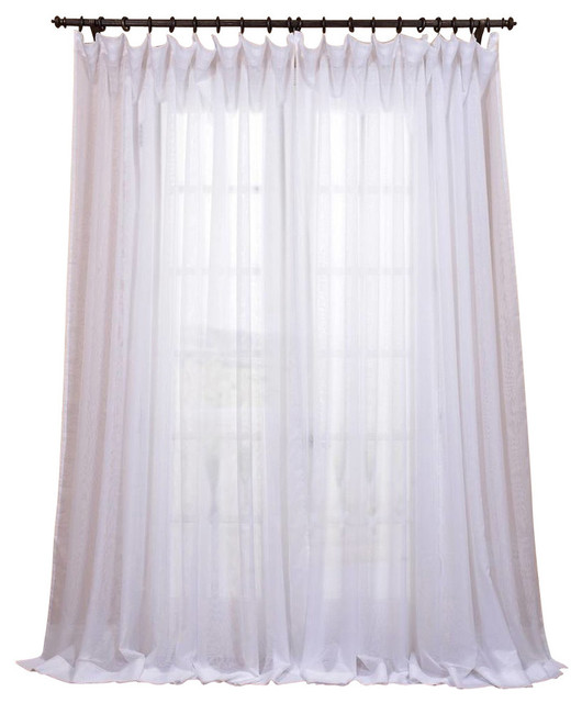 "Bianco Double Wide Sheer Single Curtain Panel, 100""x96""."