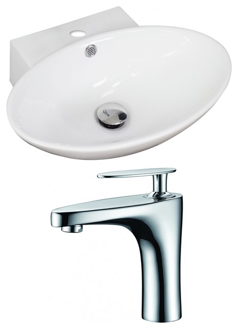 oval vessel set with single hole faucet 21 contemporary bathroom sinks by posh house. Black Bedroom Furniture Sets. Home Design Ideas