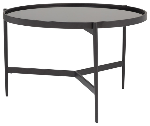 Home Estrade 36 Modern Round Coffee Table In Black Firestone Gl