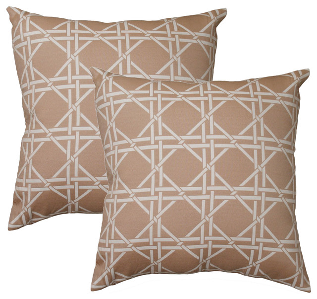 Decorative Pillows Marshalls : Hampton Pillow, Set of 2, Tan - Contemporary - Decorative Pillows - by Marshall Home & Garden