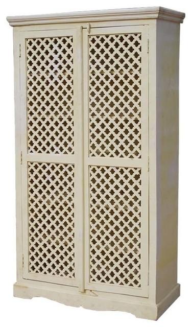 Door Solid Wood Tall Storage Cabinet