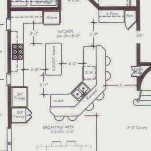 Help with our kitchen floor plan for Kitchen floor plans with island and walk in pantry