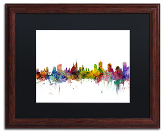 Quot Ottawa Canada Skyline Quot Matted Framed Canvas Art By