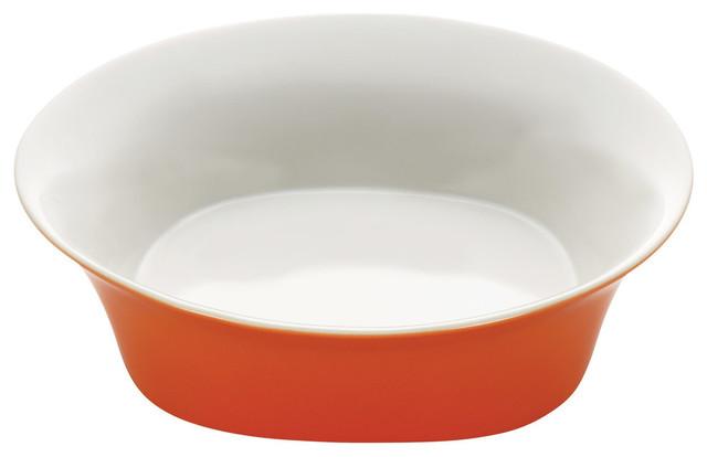 dinnerware round and square 10 stoneware round serving bowl orange