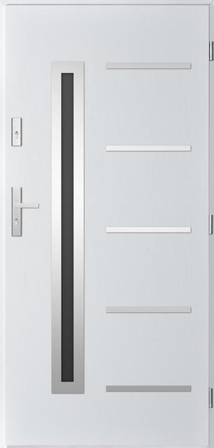 "Picard, Security External Single Door, White, 35.1""."