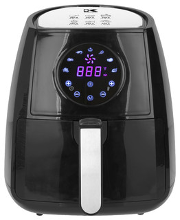 Kalorik Black Digital Airfryer With Dual Layer Rack: modern home air fryer