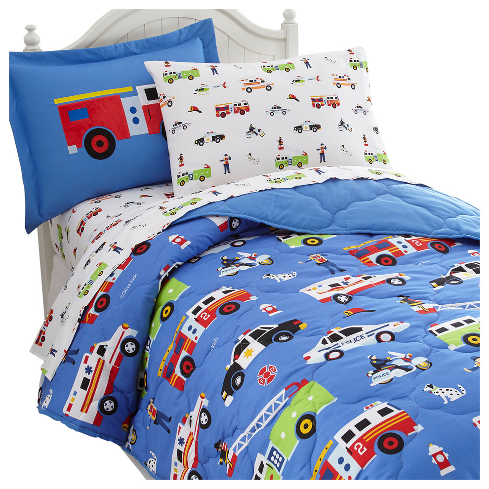 sale retailer 76b8c 57058 Olive Kids Heroes 5-Piece Bed in a Bag, Twin