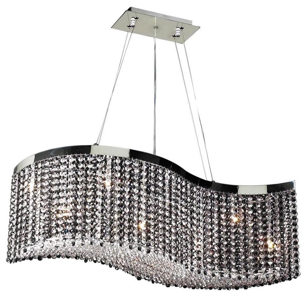 PLC LIGHTING 8 Light Chandelier Clavius - II Collection ...