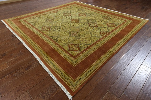 9 Square Peshawar Oriental Rug