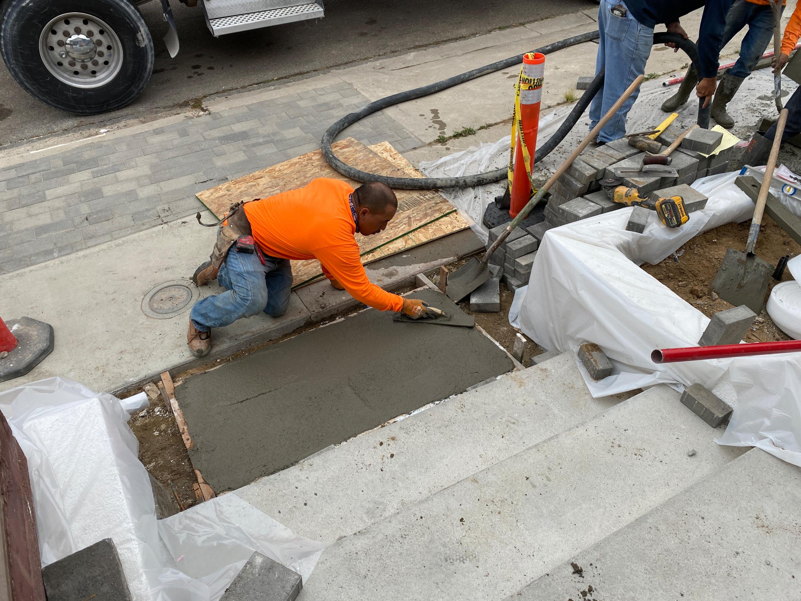 Finishing Our Concrete Pour - Front Steps