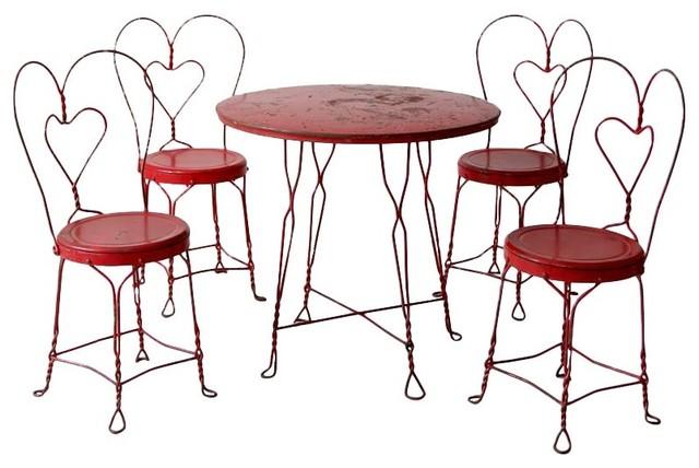 Antique Ice Cream Parlor Table Set