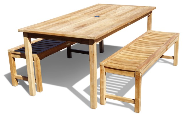 71x35 Cannes Table 2 Backless Benches Grade A Teak Craftsman