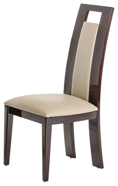 Modrest Douglas Modern Ebony And Taupe Dining Chair, Set Of 2.