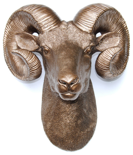 Near And Deer Resin Ram Head Wall Mount View In Your